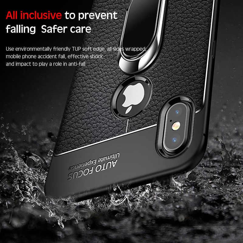 ซิลิโคนนุ่มหนังกลับโทรศัพท์กรณีสำหรับ iPhone 11 X XR XS Max Pro ผู้ถือสำหรับ iPhone 11 8 7 6 6S Plus 5 5S SE Coque