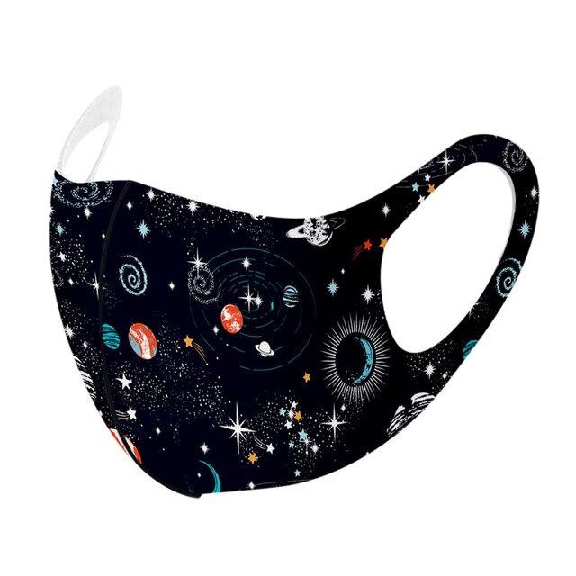 1 pçs crianças máscaras de rosto lavável reutilizável capa de rosto moda impresso gelo máscara de seda respirável máscara de capa de boca mascarilla 1