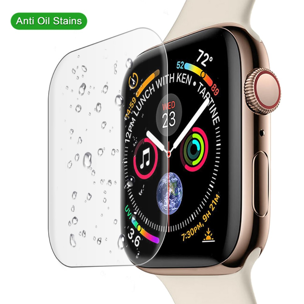 Screen Protector Glass For Apple Watch Band 44mm 40mm Iwatch Series 5 4 3 2 1 42/38mm 9H Anti-Explosion Tempered Glass Film