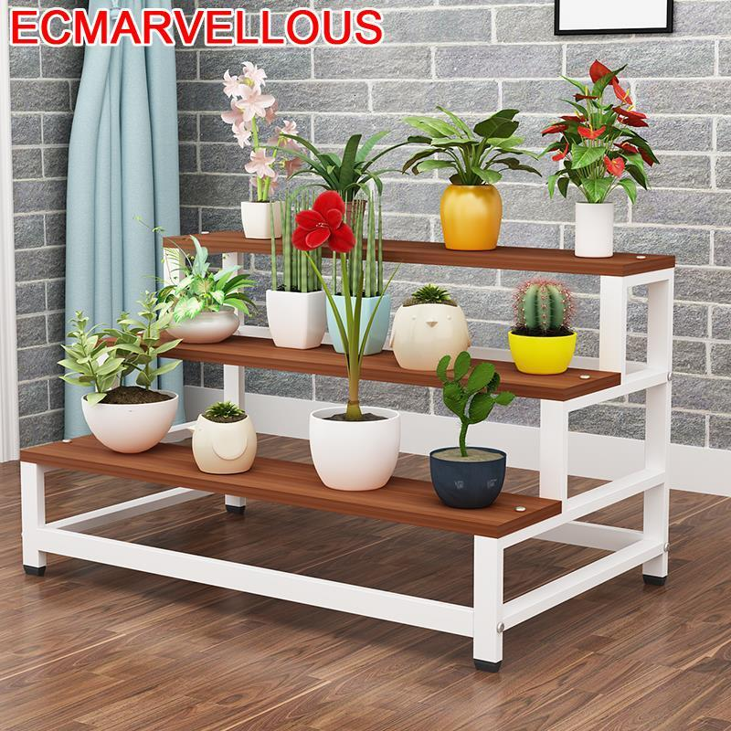 Indoor Table Soporte Interior Living Room Mueble Para Plantas For Ladder Balcony Shelf Dekoration Outdoor Flower Plant Stand