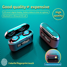 Беспроводные Bluetooth стереонаушники TWS с аккумулятором на 3500 мА · ч, IPX7 водонепроницаемые сенсорные наушники-вкладыши, гарнитура со светодиод...