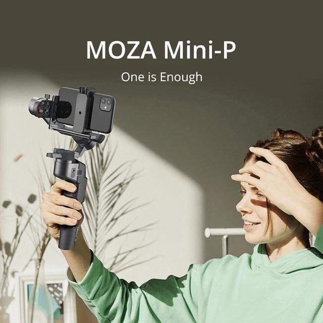 MOZA MINI S P 3 Axis Foldable Pocket Sized Handheld Gimbal Stabilizer MINI P for iPhone X 11 Smartphone GoPro MINI MI VIMBLE