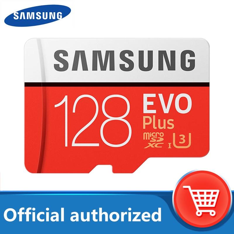 SAMSUNG карта памяти Micro SD карты 128 Гб карта памяти EVO Plus 128 ГБ Class10 TF карты C10 microsd UHS-I U3 Бесплатная доставка cartao de memoria