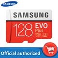 SAMSUNG Micro SD karte 128 GB Speicher Karte EVO Plus 128 GB Class10 TF Karte C10 microsd UHS-I U3 Freies verschiffen cartao de memoria