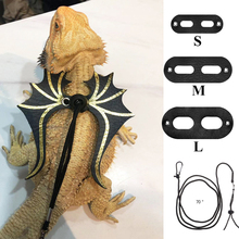 Adjustable Lizard Leash Reptile Harness Bearded Dragon Gecko With Wings Small Animal (S, M, L,)