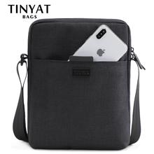 TINYAT Mens Bags Light Canvas Shoulder Bag For 7.9 Ipad Casual Crossbo