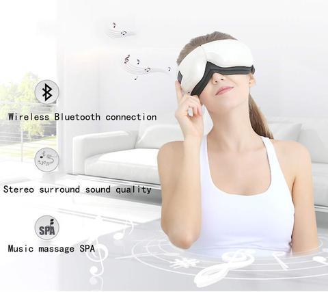 inteligente bluetooth musica olho massageador mascara pressao