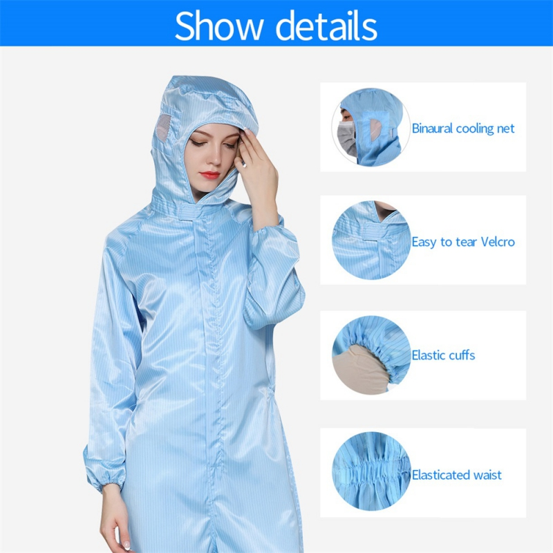 Disposable and Antibacterial Medical Protective Clothing with Plastic Closures for Hospital Use 9