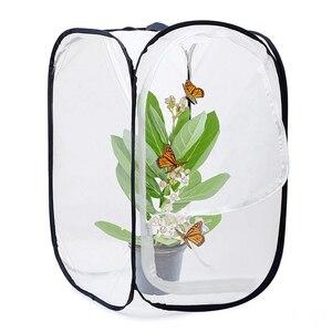 Клетка для обитания насекомых и бабочек Террариум высотой 23,6 дюйма (белый + черный)