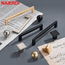 Naierdi жемчужная золотая для шкафа ручки кухонные Дверные Ручки