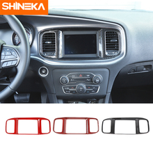 Shinek Interieur Accessoires Voor Dodge Charger Center Console Navigatie Panel Decoratie Cover Stickers Voor Dodge Charger 2015 +
