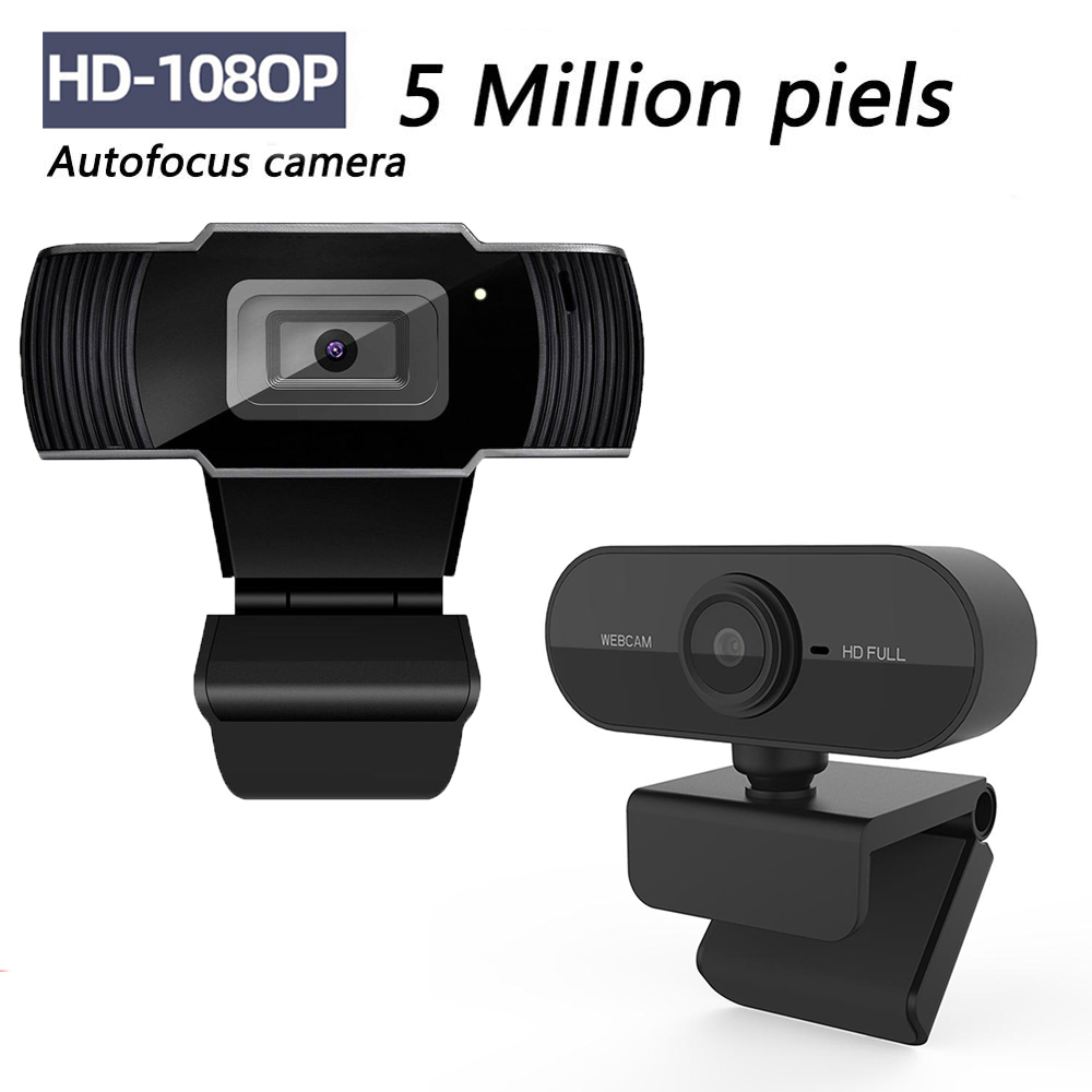 S70 5 Megapixel Auto Focus HD Webcam 1080P PC Web USB Camera Cam Video Conference with Microphone for Laptop Computer