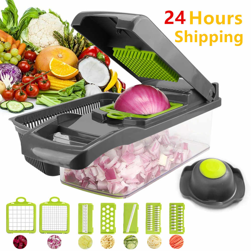 Vegetable Cutter Mandoline Slicer Aksesoris Dapur Buah Cutter Pengupas Kentang Wortel Keju Parutan Sayuran Slicer Chopper