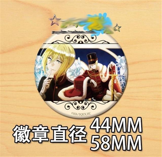10PCS Anime Die Königliche Tutor Pins Cosplay Abzeichen Brosche Sammeln Pin für Rucksack Taschen Japan Cartoon Sammlung Zubehör