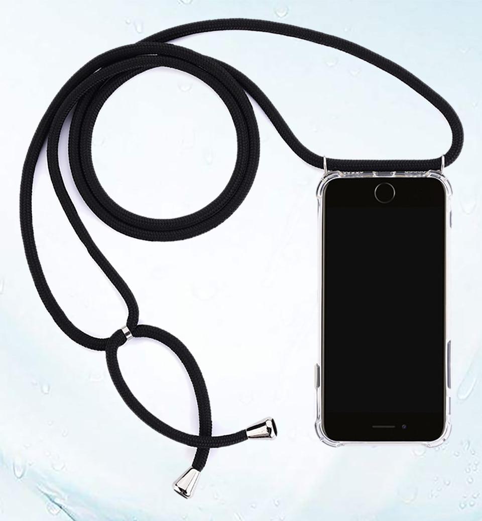 Модный мягкий чехол из ТПУ с ремешком через плечо для Huawei P30 P20 Lite E P40 Mate 30 20 Pro Nova 3 3i ударопрочный Прозрачный чехол для телефона