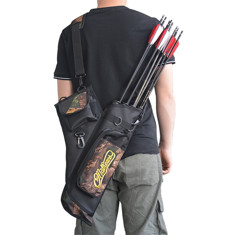 Hunting Arrow Bag <font><b>4</b></font> <font><b>Tubes</b></font> Arrow Quiver Holder Bag With Adjustable Strap For Archery Hunting Arrows Hunting Accessories image