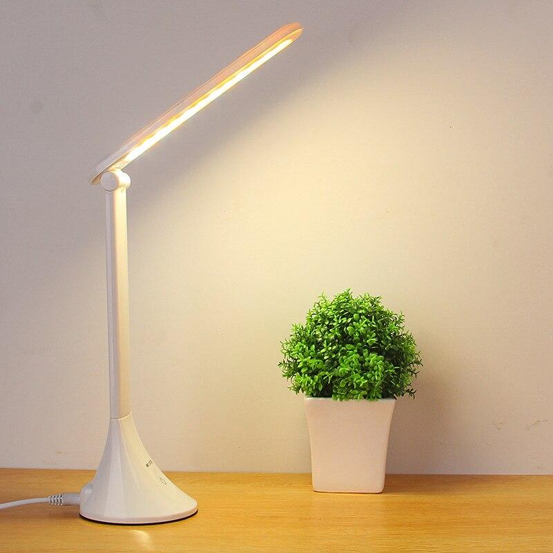 mesa usb lâmpada de mesa led estudo