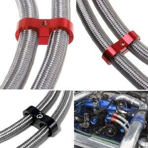 Image 4 - PQY   1Pcs Universal AN4 AN6 AN8 AN10 AN12 Billet Öl Kraftstoff Wasser Schlauch Rohr Seprator Teiler Clamp aluminium linie separator