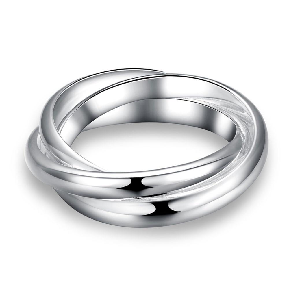 CAR002 Simple cercle croix anneau pour femmes fiançailles mariage 925 bijoux en argent Sterling