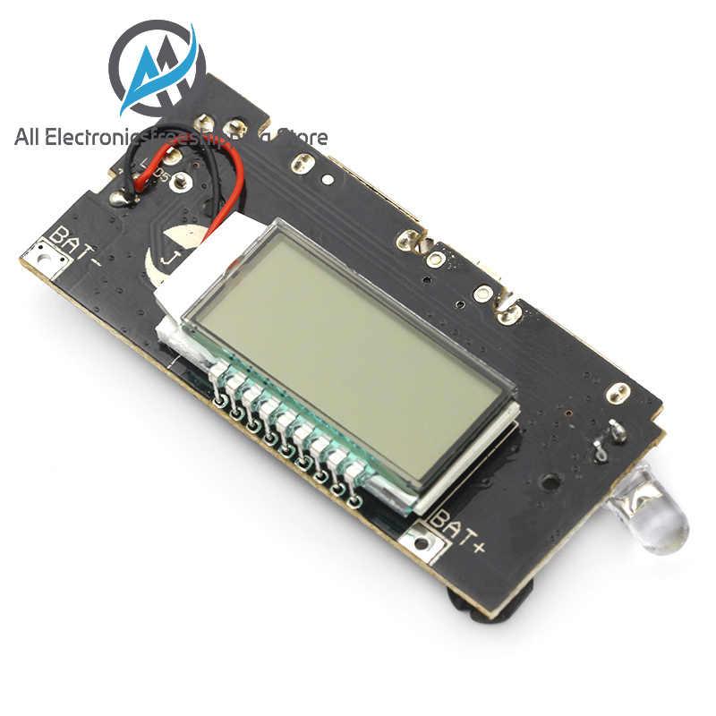 التلقائي حماية! المزدوج USB 5 فولت 1A 2.1A موبايل قوة البنك 18650 شاحن بطارية ليثيوم مجلس الرقمية LCD شحن وحدة