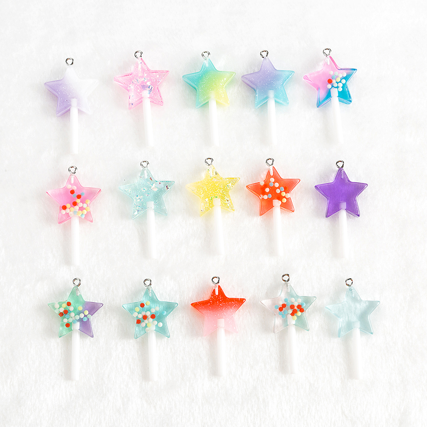 10PCS Mixed Glitter Mermaid Fish Tails Charm Scale Flatback Resin Cabochon