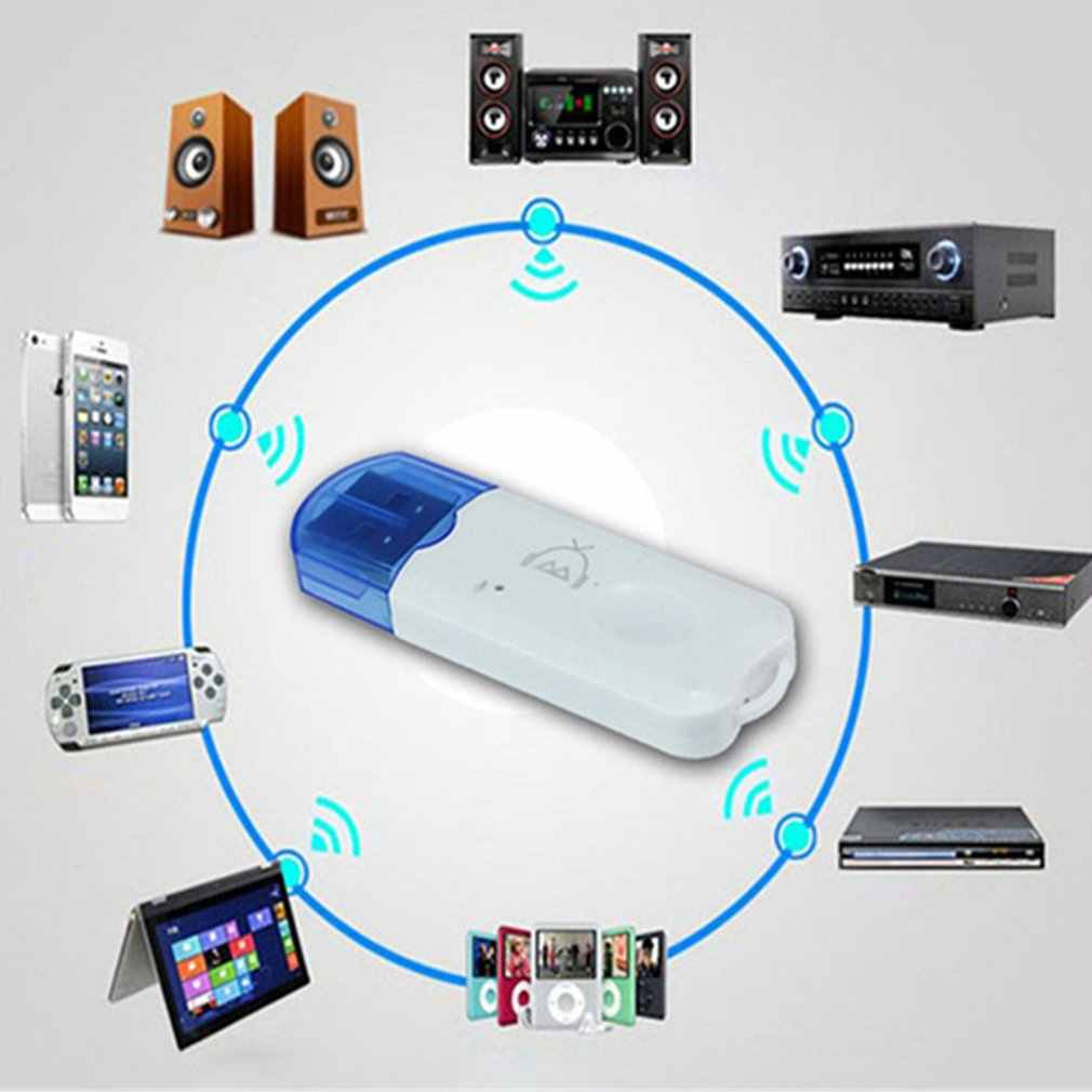 USB Bluetooth 2,1 receptor de Audio estéreo adaptador inalámbrico kit manos libres de llave electrónica para altavoz de coche reproductor de Mp3 teléfonos inteligentes