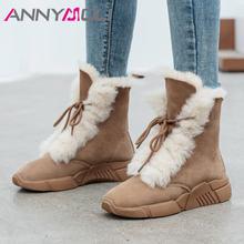 Ботинки женские короткие на платформе со шнуровкой и меховой