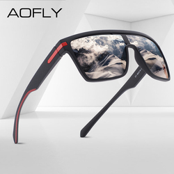 AOFLY Brand Polarized Sunglasses Men Fashion Flexible Frame Driving Square Sun Glasses Male Women TR90 Goggle zonnebril heren