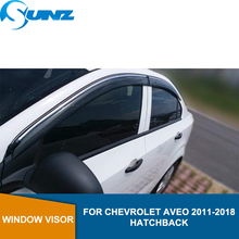 цена на Side Window Deflectors For Chevrolet AVEO 2011-2018 Car Wind Deflector Sun Guard  For Chevrolet AVEO 2011-2018 hatchback SUNZ