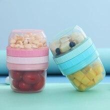 Zwei Schichten Lebensdauer Stil Tragbare Baby Lebensmittel Lagerung Box Ätherisches Getreide Infant Milch Pulver Box Toddle Snacks Container