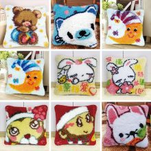 37/43/50 cm Latch Hook Pillowcase Knooppakket Knoopkussen Foamiran Needlework Cushion Embroidery DIY Cross Stitch