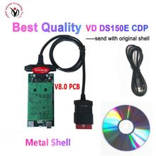 DHL 10pcs/lot new 2016R0 ! double green pcb relays vd ds150e  Bluetooth 2017R3 keygen new vci VD TCS  pro send with shell