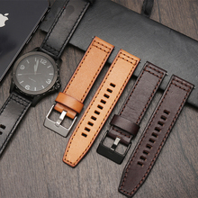 For Fossil JR1354|1487|1424 watchband high quality Retro quick release genuine leather diesel strap black dark brown 22mm 24mm