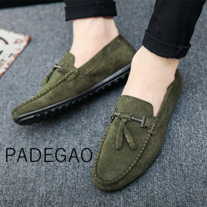 Slip-On Sneaker Men Loafers Korea-Style Fashion New-Arrival Autumn Spring Flock