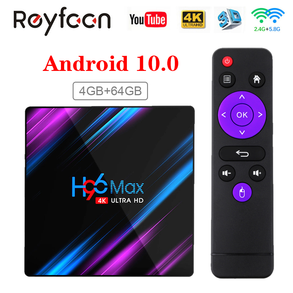 H96 Max Smart TV Box Android 10 RK3318 4GB 64GB USB3 0 1080P H 265 60fps Google Voice Assitant Youtube 4K Smart TVbox 9 0 H96max