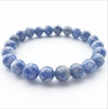 Blue carnelian Beads Bracelets Natural Stones Elastic Line Bracelet Men Jewelry Women Fashion Wristband