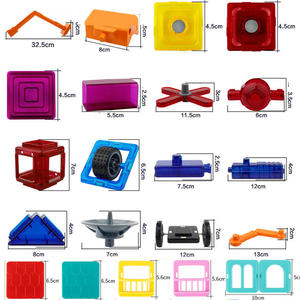Construction-Toys Magnetic-Blocks-Accessories Building-Blocks Children Bricks for Gift