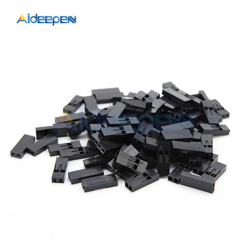 100 ピース/ロット 2.54 ミリメートル 1 ピン 2 ピンピッチデュポンジャンパ線ケーブル黒プラスチックハウジングメスピンコネクタケースシェルボックス 1 1080P/2 1080P