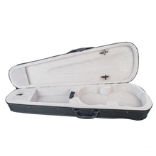 Violin Case Professional Triangular Shape Violin Hard Case -Silver Inside Violin Parts New 1 8 violin pinus bungeana top with lightweight hard case maple back and sides