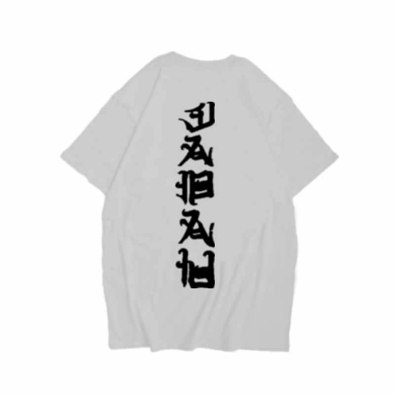 ヒップホップの tシャツの男性女性の Tシャツファッション悪漢字プリント夏の綿 Tシャツストリート特大盗品シャツ 2020 Tシャツシャツ