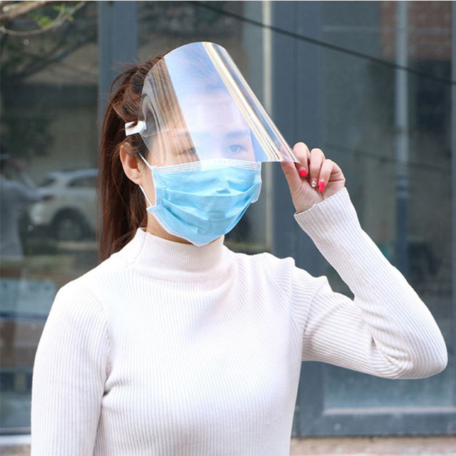 NEW Safety Full Face Shield Masks Virus Protective Transparent Anti Splash Saliva/Cooking/Nursing/Grease Proofing Protective 2
