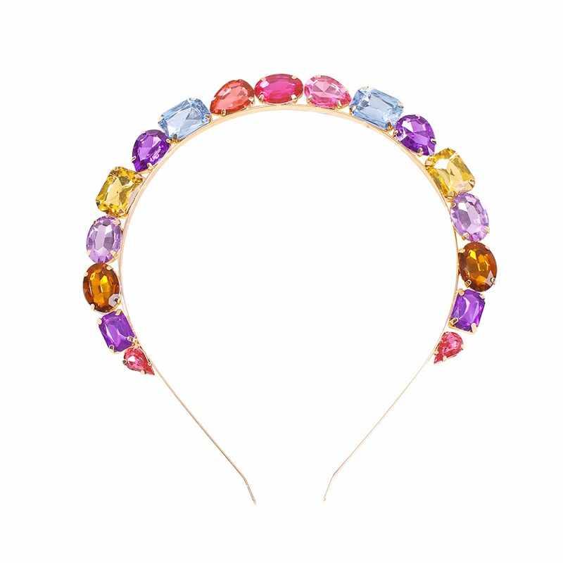 Diademas de cristal de Color para mujer, niñas, 2020, Nueva joyería para fiesta de boda, accesorios para el cabello, accesorios para el cabello, regalos de navidad