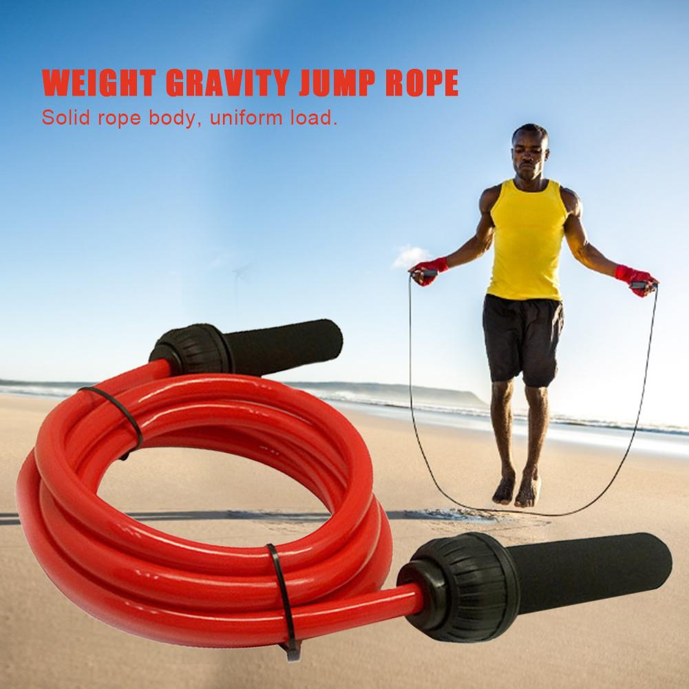 WEIGHTED JUMP// SKIPPING ROPE HEAVY AND BOLD FITNESS STRENGTH TRAINING EQUIPMENT