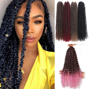 Passion Twist Hair Synthetic Kinky Curly 18 Inch Spring Twist Crochet Braid Hair 22strands/pack Hair Extension for Black Women(China)