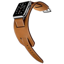 hot selling Wrist Belt For Apple Watch Cuff Band Leather Loop 42mm 38mm 40mm 44mm Bracelet for iWatch Strap Series 5 4 3 2 1 цена