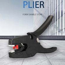 Automatic Electrical Wire Cable Stripper Stripping Plier Terminal Crimper Hand Tool Cutter Black
