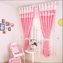 Coreano pastoral doce e quente amor cortinas para sala de jantar quarto.