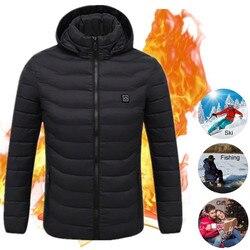 Plus Size Electric Heating Vest Jacket Men Women Winter Withstand Severe Cold Self-Heating Cotton Vest Outdoor Warm Coat