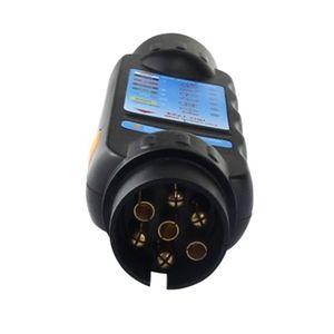 Image 2 - Ferramenta durável do teste da luz do circuito da fiação do verificador da tomada do reboque do caminhão do carro de 12v 7 pinos para o europeu