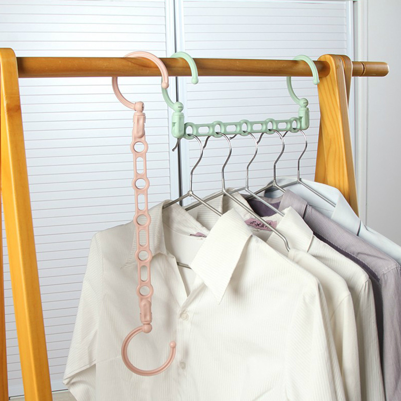 Windproof 5Hole Magic Coat Hanger Multifunction Holder Clothes Organizer Folding Rotating 5 In 1 Coat Storage Rack